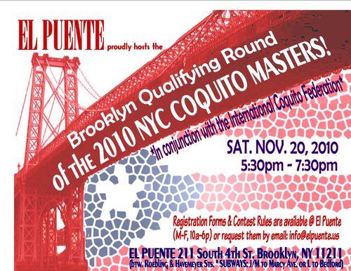 El Puente - 2010 Brooklyn Qualifying Round - Coquito Masters - revised2